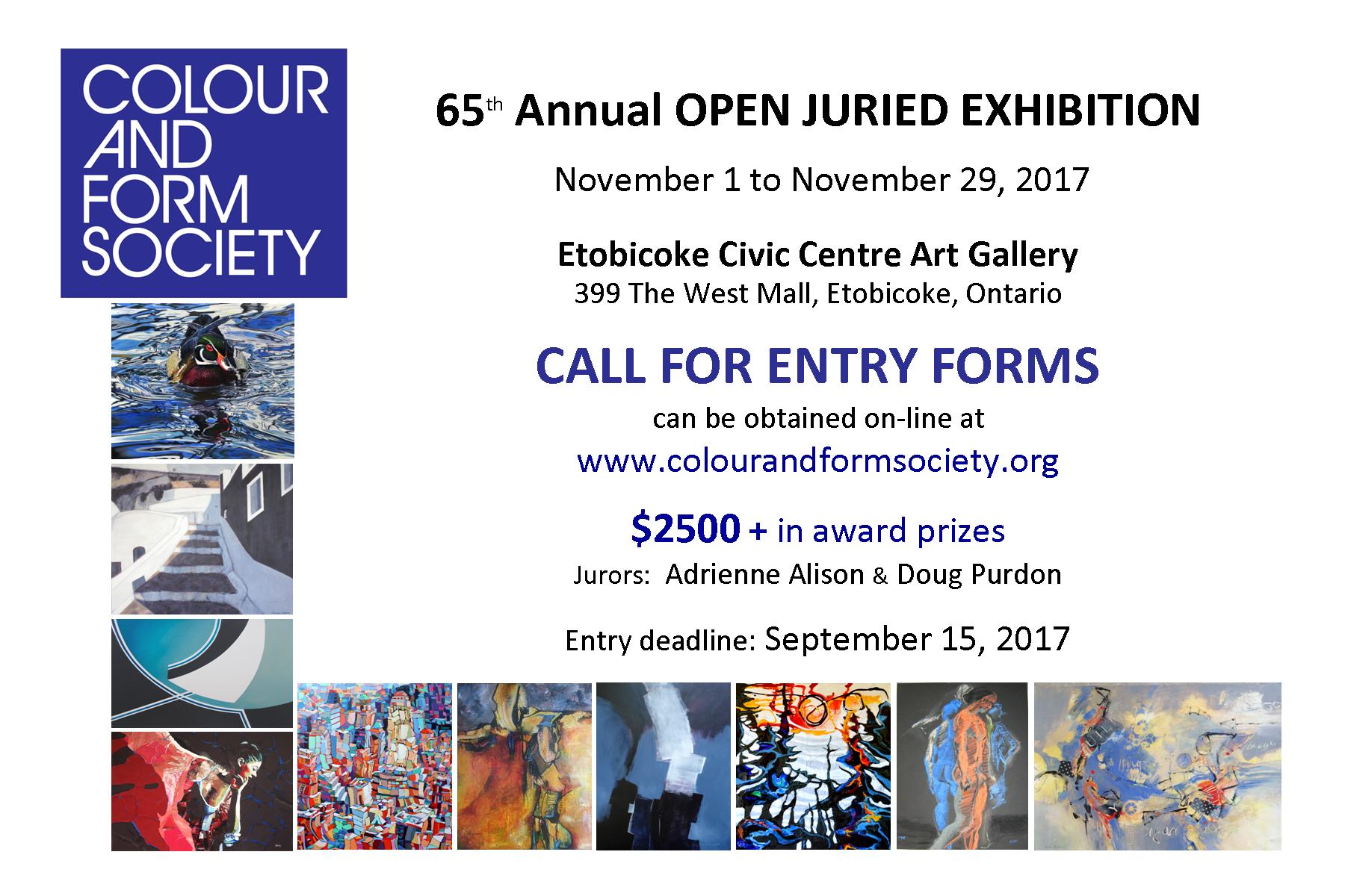 Colour And Form Society 65th Open Juried Exhibition