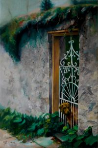 "Alan Douglas Ray, ""The Gatekeeper"", Oil on Linen, 30""x20"", $3,275"