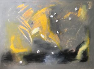 "Krystyna Cseh, ""Yellow"", 40"" x 54"", Acrylic on Canvas, NFS"