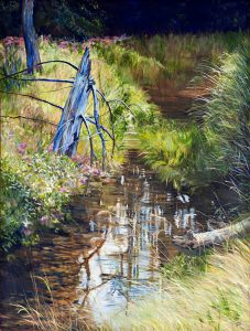 """Cathy Groulx, """"Still Standing"""", 48"""" x 36"""", Oil on Canvas, $2542"""