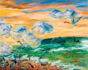 "Rosalie Lam, ""Wakening over Georgian Bay"", 24"" x 30"", Oil on Canvas, $1200"