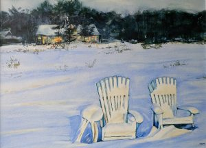 "Sally Martin, ""Waiting for Summer"", 22"" x 30"", Watercolor on Board Varnish, $400"