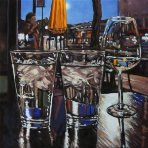 """Rob Niezen, """"Fire and Ice"""" , 24"""" x 24"""", Oil on Canvas, $1100"""