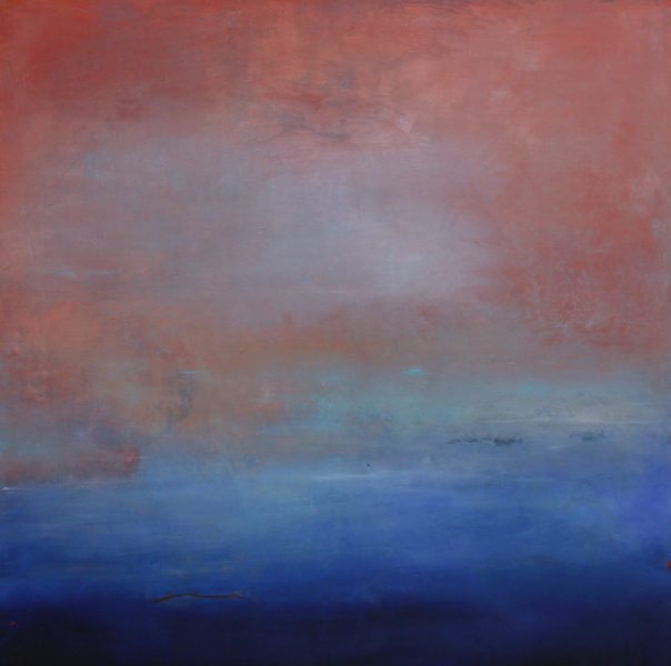 """Janet Read, """"Dawn Rise"""", 40'x 40"""", oil and cold wax on birch panel"""