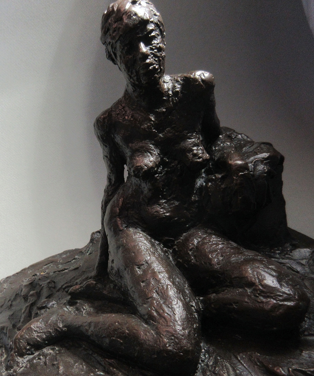 """David Paolini, """"In The Studio Series ... Quick Sketches In Bronze / 'Janelle'"""" (View 1), 6 1/2"""", Bronze / Limited Edition of 10, $3500"""