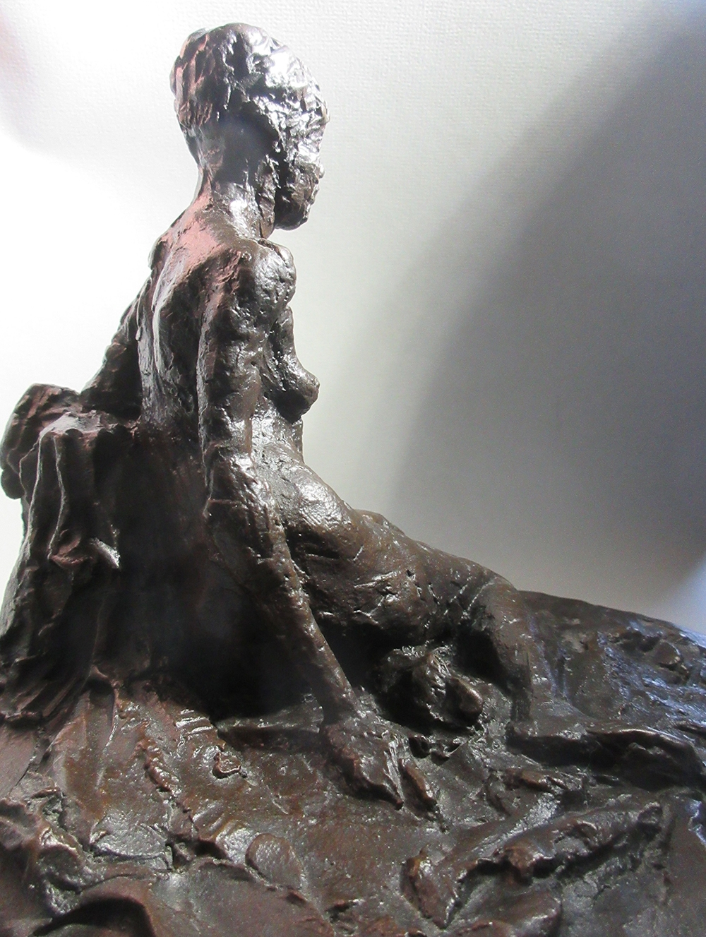 """David Paolini, """"In The Studio Series ... Quick Sketches In Bronze / 'Janelle'"""" (View 2), 6 1/2"""", Bronze / Limited Edition of 10, $3500"""