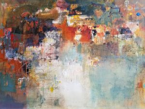 "Jangmee Park, ""What a Great"" , 36"" x 48"", Mixed Media on Canvas, $3500"