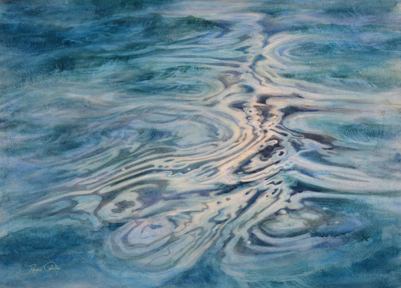 "Rayne Tunley, ""Smoke Lake"" , 22"" x 30"", watercolour, $2800"