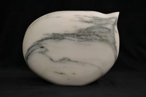 "Mary Farrow, ""Blurb"" (View 1), 14"" x 16"" x 6"", Marble, $3000"