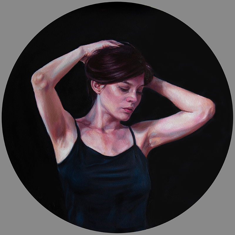 """Kristy Blackwell, """"Just One Moment"""", 20"""" x 20"""", Oil on Canvas, $1,300."""