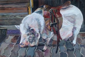 "Janice Ykema Art, ""Howard Has a Dream"" , 24"" x 36"", Acrylic , $975"